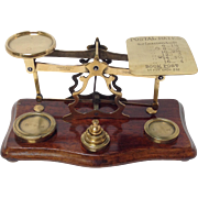 Postal Scales Brass by Parkins & Gotto London