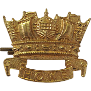 British Royal Naval Division WWI Cap Badge, Howe Batallion