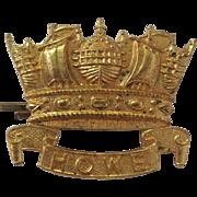 British Royal Naval Division WWI Cap Badge, Howe Batallion