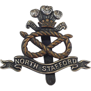 Prince of Wales North Staffordshire Regiment Cap Badge