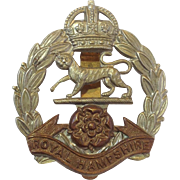 Royal Hampshire Regiment Tiger Cap Badge
