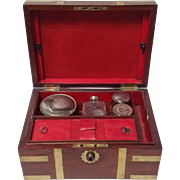 Antique Mahogany Fitted Traveling Case Circa 1830