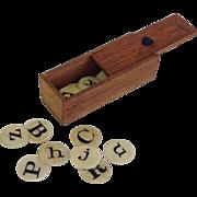 Miniature Round Bone Alphabet Tiles