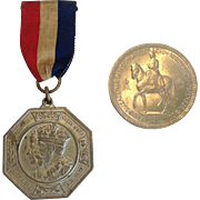 Commemorative Coronation Coin 1953 and Royal Silver Jubilee Medal 1935