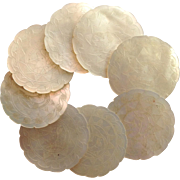 Game Counters 8 Chinese Mother of Pearl