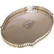 Small Silverplate Turtle Shaped Tray 12""