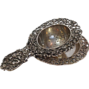French Silver Teapot Spout Strainer