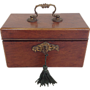 Mahogany Tea Caddy Late 18th Century