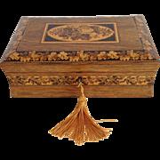 Tunbridge Wear Games Whist Cards Box Circa 1840-60