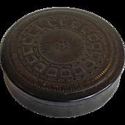 Snuff Box Pressed Wood 19th Century