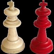 Antique Chess Set Circa Late 19th Century