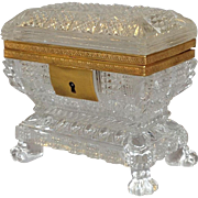Cut Crystal Casket Ormalu Mounted France Mid 19th Century