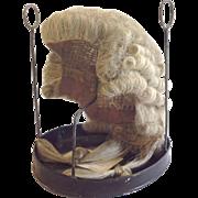 Barrister's Wig Original Tole Case Judge England 19th Century