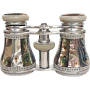 Abalone Opera Glasses with Case by Otto Boettger