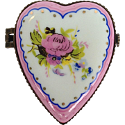 Je t'aime Heart Shaped Porcelain Box