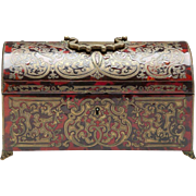 Domed Boulle Casket French Footed