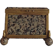 Antique Granite and Ormolu Small Box