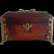 Antique Walnut Tea Caddy 18th c.