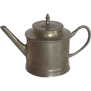 Charles V. Swain Miniature Pewter Teapot Early 18th c.
