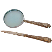 Sterling Magnifying Glass and Paper Knife Elkington