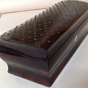 Rosewood Box With Cut Steel Beads c.1820 England