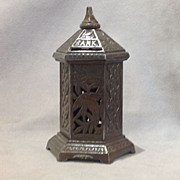 Antique Cast Iron Pagoda Bank  - Late 19th Century