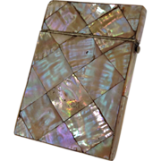 Antique Mother of Pearl Card Case