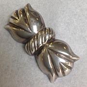 William Spratling Tulip Pin Mid-Century Sterling Amethyst