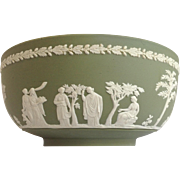"Wedgwood Green Jasper 8"" Bowl c. 1966"