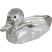"Swarovski Giant Mallard Cut Crystal 9 1/2"" Duck Figure"