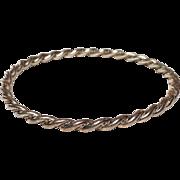 """Sterling Silver Twist Stacking Bangle Bracelet 8"""""""