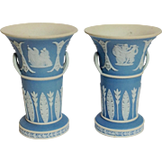 Pair of Small Wedgwood Jasperware Spill Vases