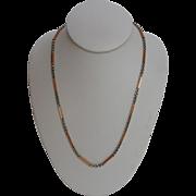 """Gold watch Chain Bi-Color14 Karat  Necklace 15"""""""
