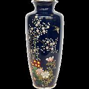 Japanese Cloisonne Flower Vase Meiji