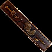 Japanese Shakudo Sword Mixed Metal Bar Pin Rare