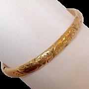 Floral Design Gold-Filled Child's  Bracelet