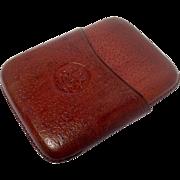 Vintage Leather Pocket Cigar Case
