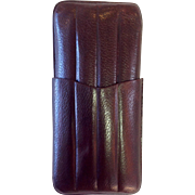 Vintage Leather Cigar Case Brown