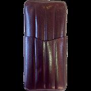 Vintage Leather Cigar Case Brown