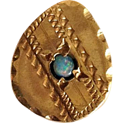 Victorian Opal Egg Shaped Slide 14K Gold