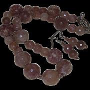 Artisan Created Hand Strung Volcano Cherry Quartz Necklace