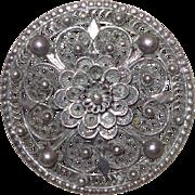 Vintage Marked 1000 Silver Brooch
