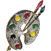 Signed Gerry's Painter's Palette Brooch