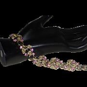 Vintage Signed Star Bracelet