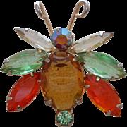D&E Juliana Oval Body Glitter Bug Brooch