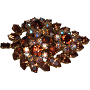 Signed made In Austria Brooch in Citrine Colored Stones