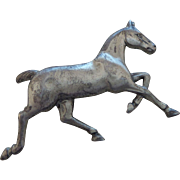 Signed Danecraft Sterling Silver Horse Brooch
