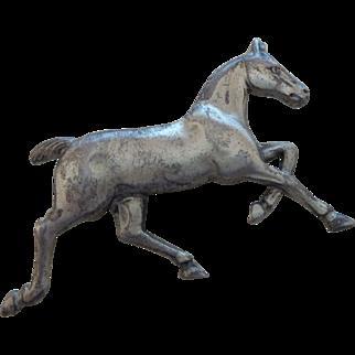 Signed Danecraft Sterling Silver Horse Brooch