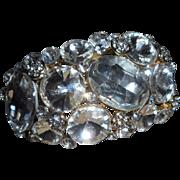 Vintage Large Rhinestone Clamper Bracelet
