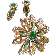 Vintage Hobe' Brooch and Earrings